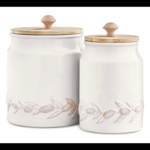 La Dolce Vita Textured Canisters Set 2